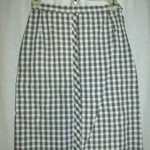 Bobbie Brooks 1960s Black White Tartan Skirt S